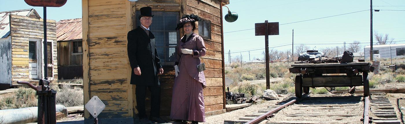 Central Nevada Museum Tonopah Railroad Display