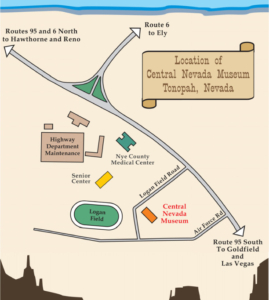 Central Nevada Museum Map
